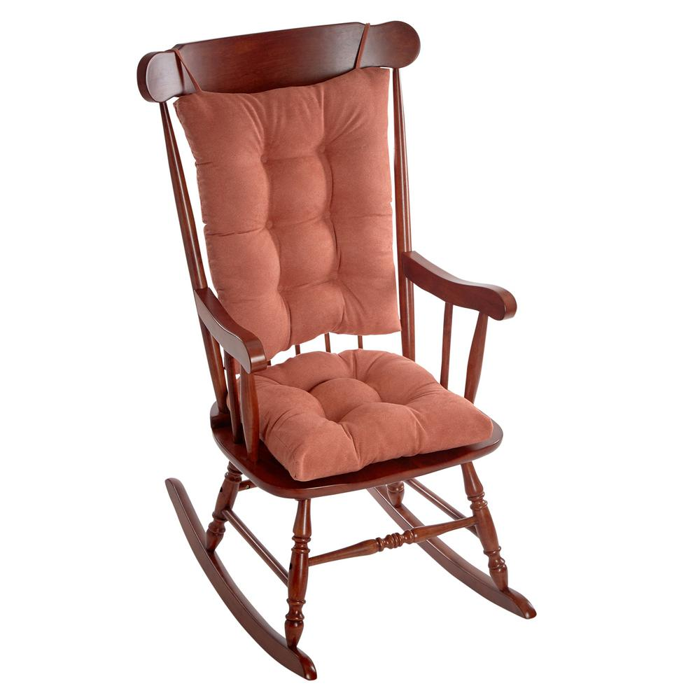 Klear Vu Gripper Twillo Clay Jumbo Rocking Chair Cushion Set