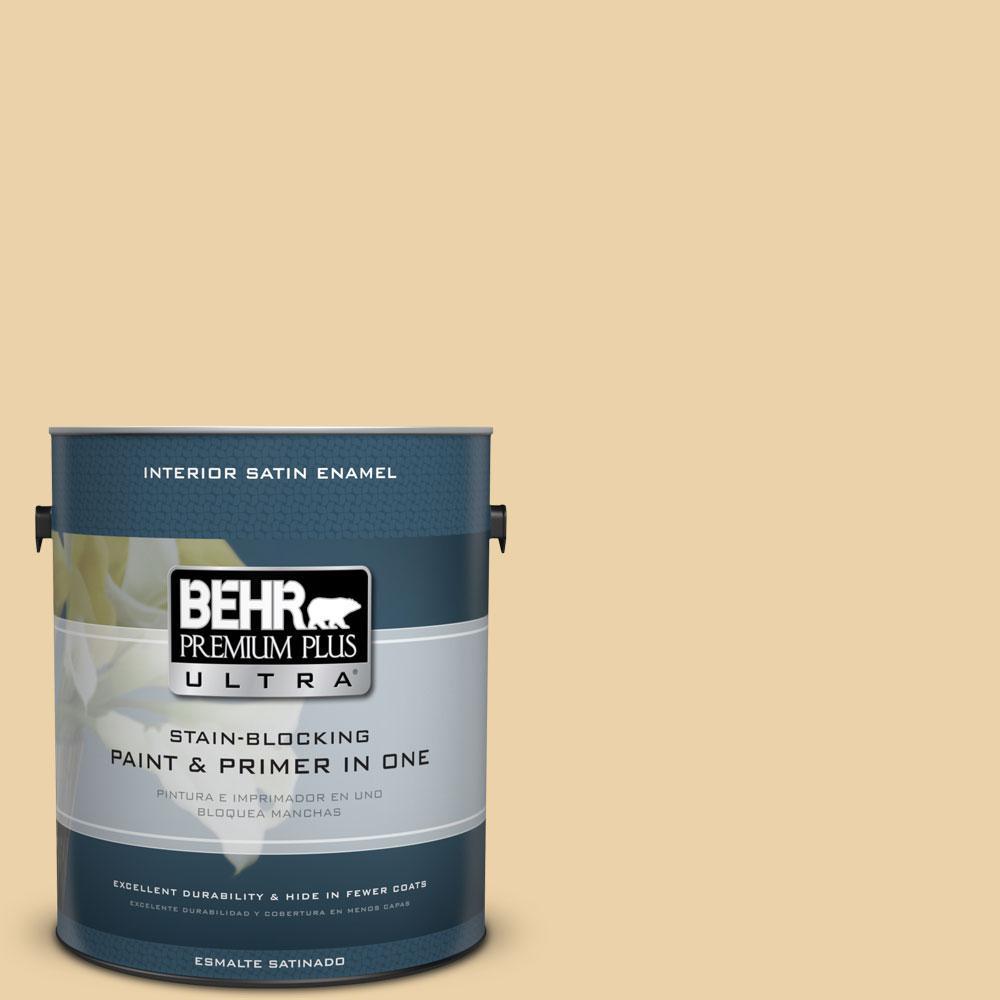 BEHR Premium Plus Ultra 1-gal. #350F-4 Quiet Veranda Satin Enamel Interior Paint