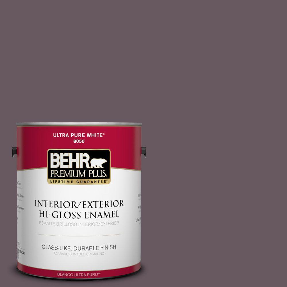 BEHR Premium Plus 1-gal. #N100-6 Urban Legend Hi-Gloss Enamel Interior/Exterior Paint
