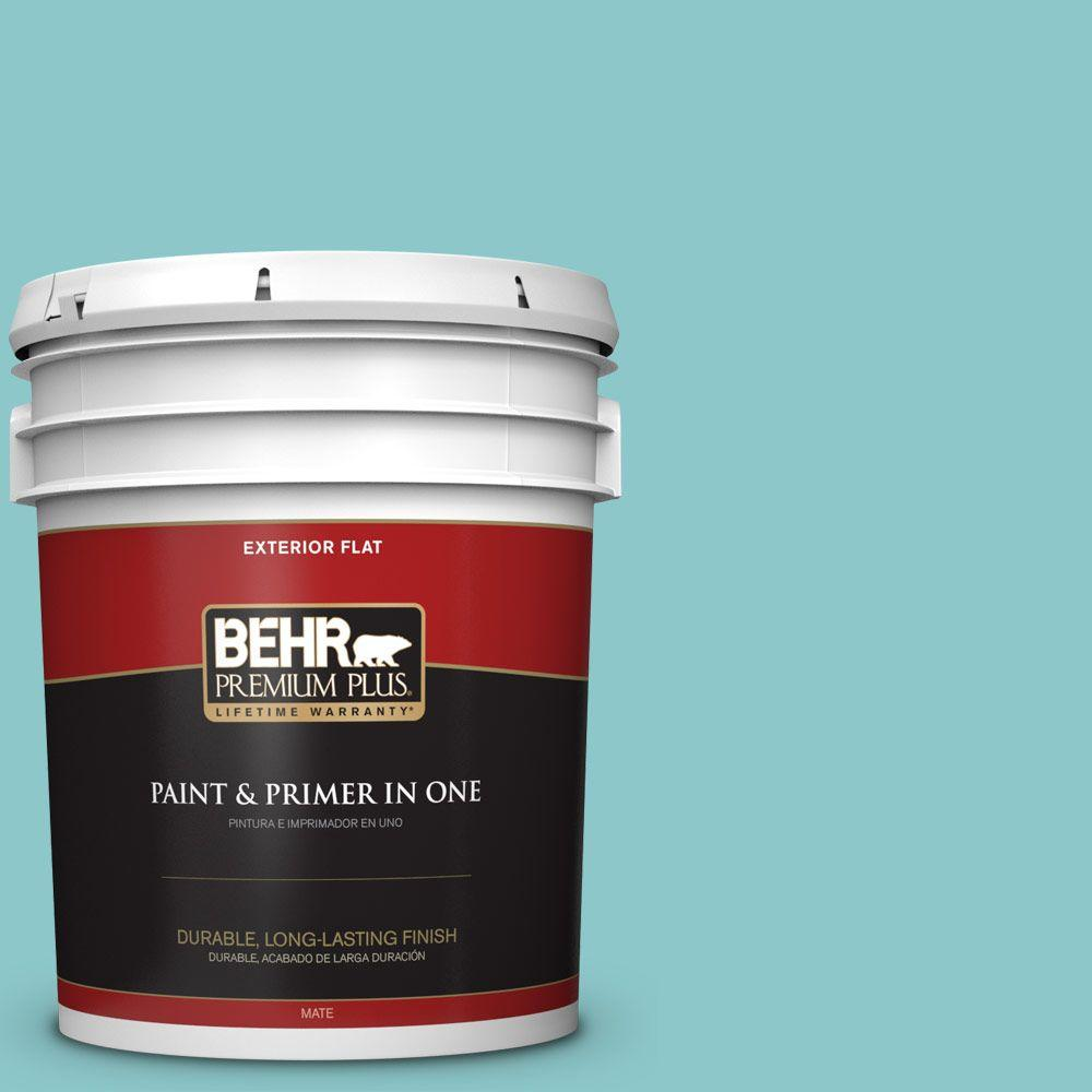 5-gal. #510D-4 Embellished Blue Flat Exterior Paint