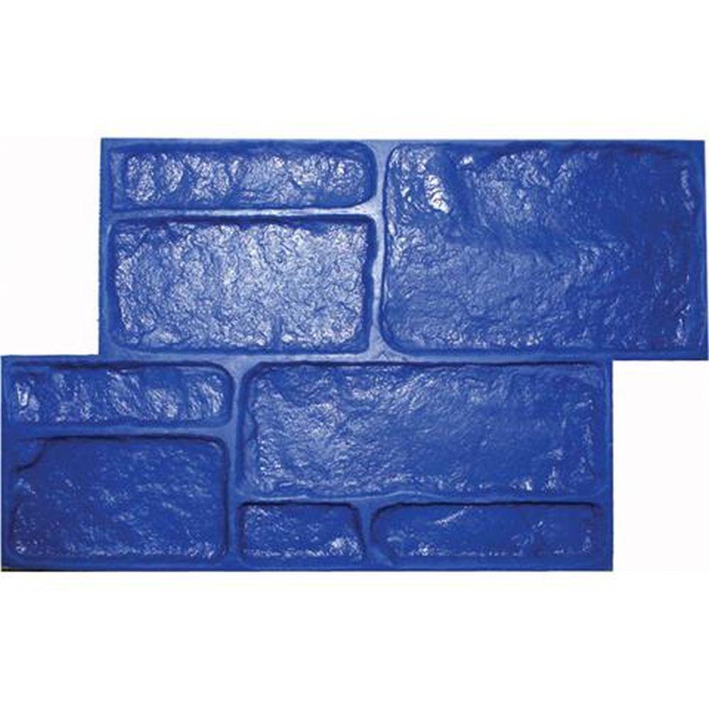 Small Platteville Limestone - Blue Concrete Stamp