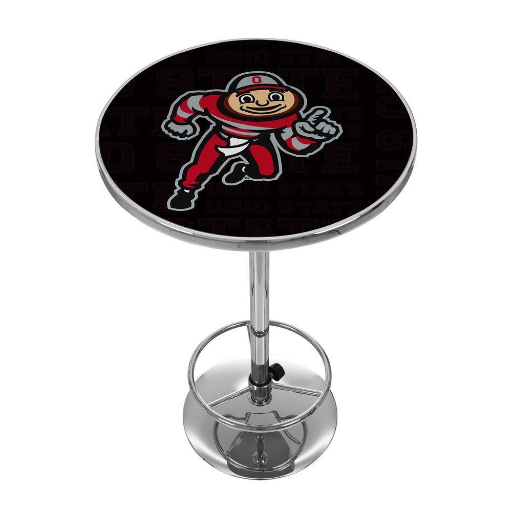 Ohio State Brutus Dash Chrome Pub/Bar Table