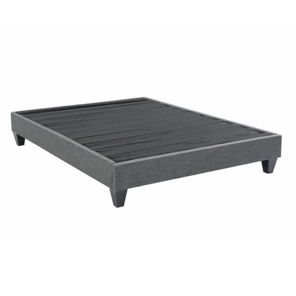 AC Pacific Contemporary Upholstered Grey King Platform Bed ACBED-10-EK