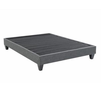 Contemporary Upholstered Grey Full Platform Bed