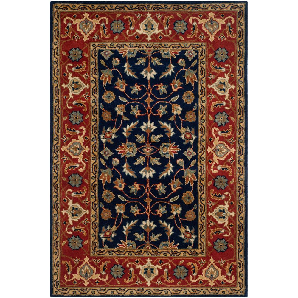 Safavieh Pl537a Persian Legend Wool Hand Tufted Rust Navy: Safavieh Royalty Navy/Rust 4 Ft. X 6 Ft. Area Rug-ROY257A