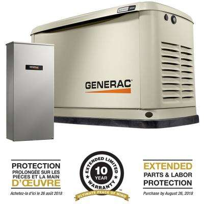 20,000-Watt Air Cooled Standby Generator with Whole House 200 Amp Automatic Transfer Switch