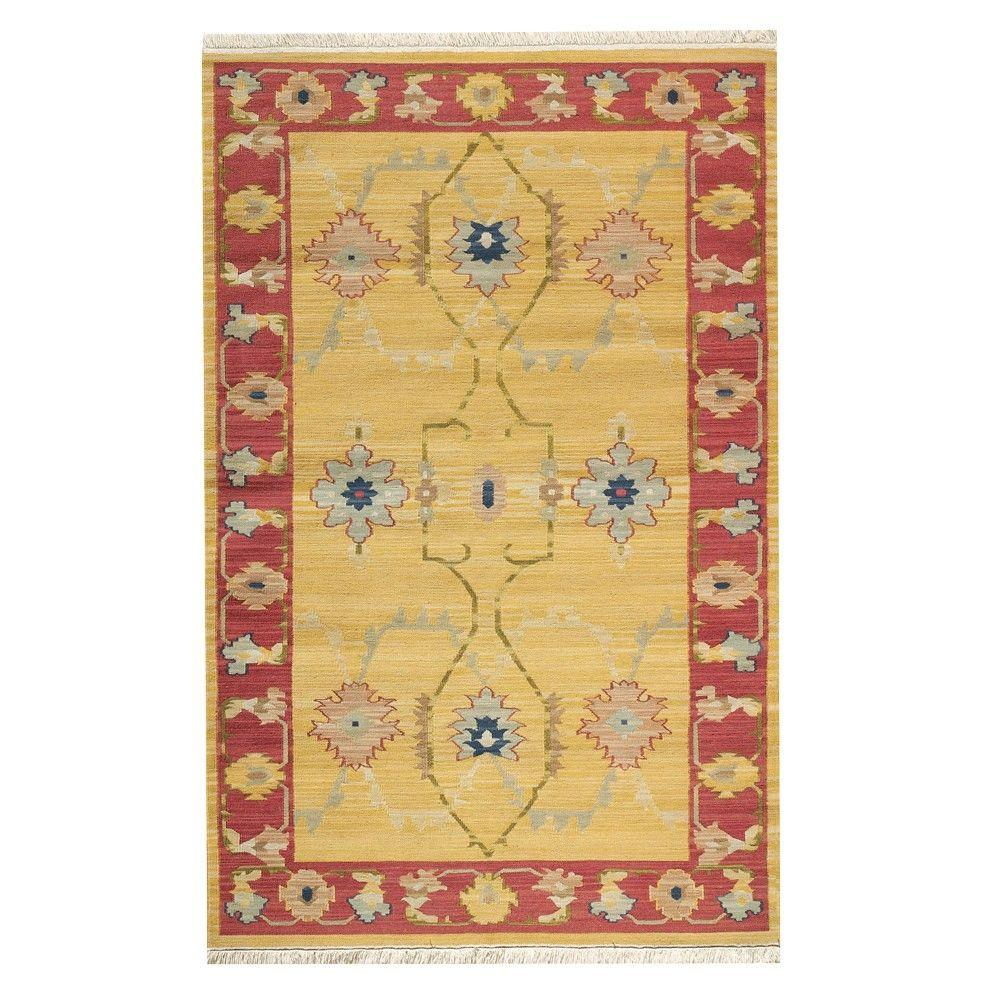 Home Decorators Collection Fairfax Gold 2 ft. x 3 ft. Area Rug