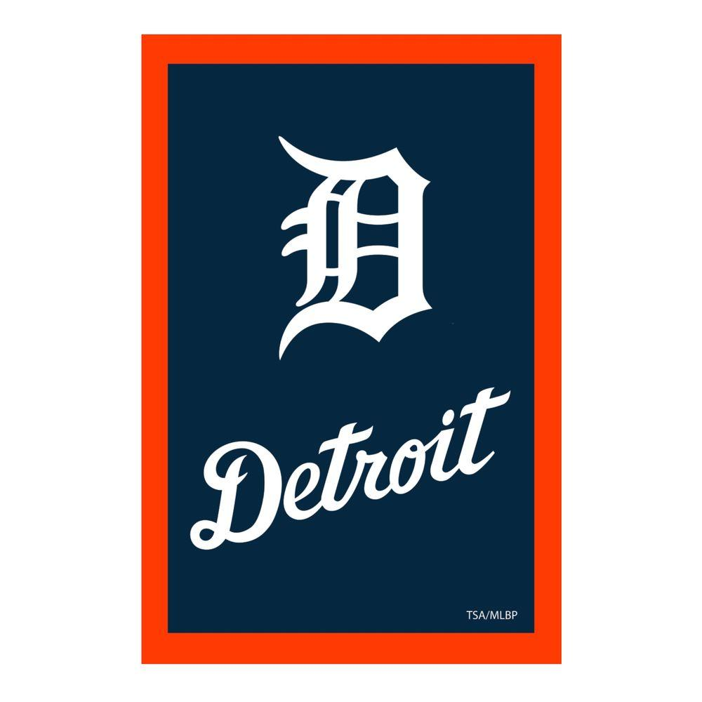 MLB 1 ft. x 1-1/2 ft. Detroit Tigers 2-Sided Garden Flag