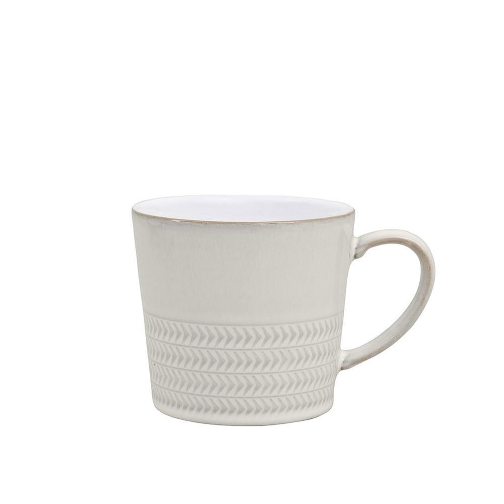 Denby Natural Canvas 10 oz. White Stoneware Textured Large Mug