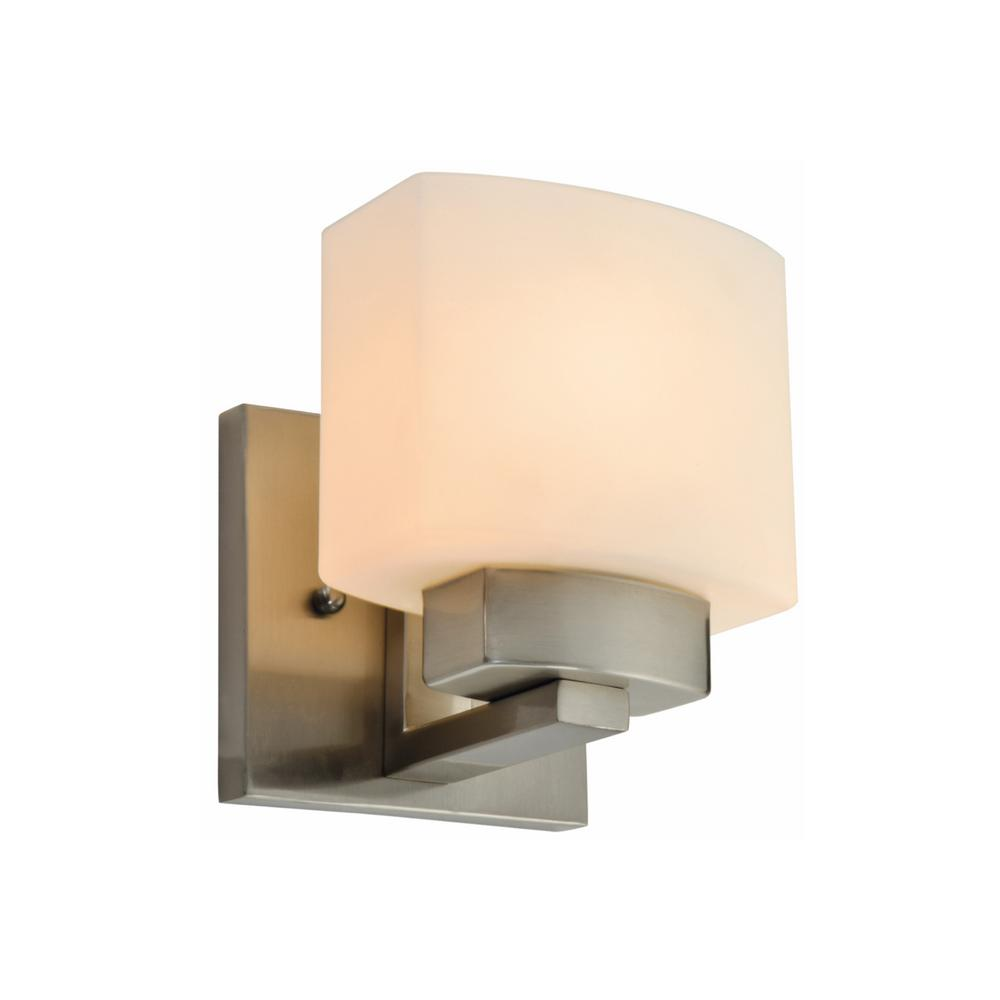 Dove Creek 1 Light Satin Nickel Wall Sconce
