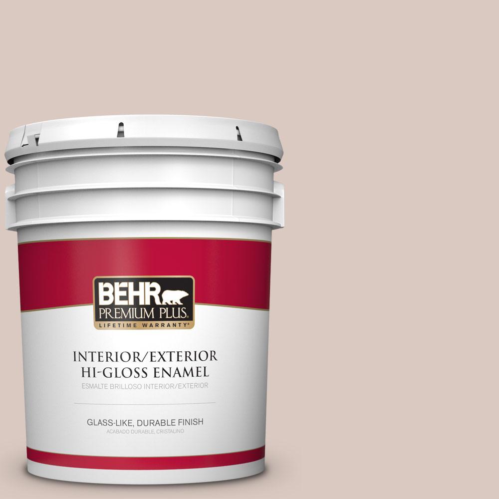 5 gal. #PPU2-06 Wisp of Mauve Hi-Gloss Enamel Interior/Exterior Paint