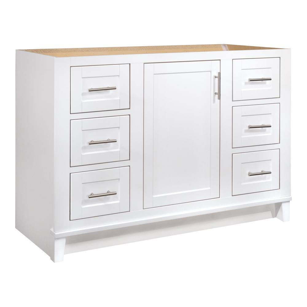 Kinghurst 48 in. W x 21 in. x 33.5 in. H D Bathroom Vanity Cabinet Only in White