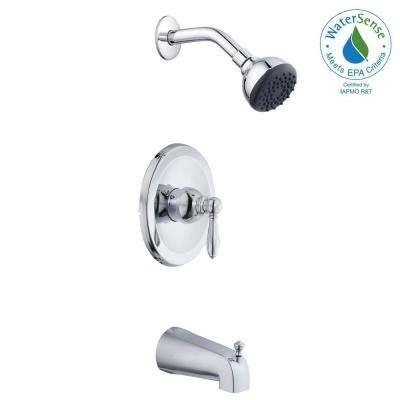 2500 Series Single-Handle 1-Spray Tub and Shower Faucet in Chrome (Valve Included)