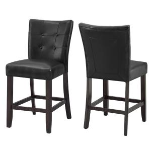 Admirable Steve Silver Francis Tufted Black Counter Chair Set Of 2 Squirreltailoven Fun Painted Chair Ideas Images Squirreltailovenorg