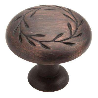 Inspirations 1-1/4 in. Oil Rubbed Bronze Cabinet Knob