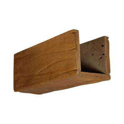 6 in. x 6 in. x 12 in. 3 Sided (U-Beam) Riverwood Puritan Pine Endurathane Faux Wood Ceiling Beam Premium Sample
