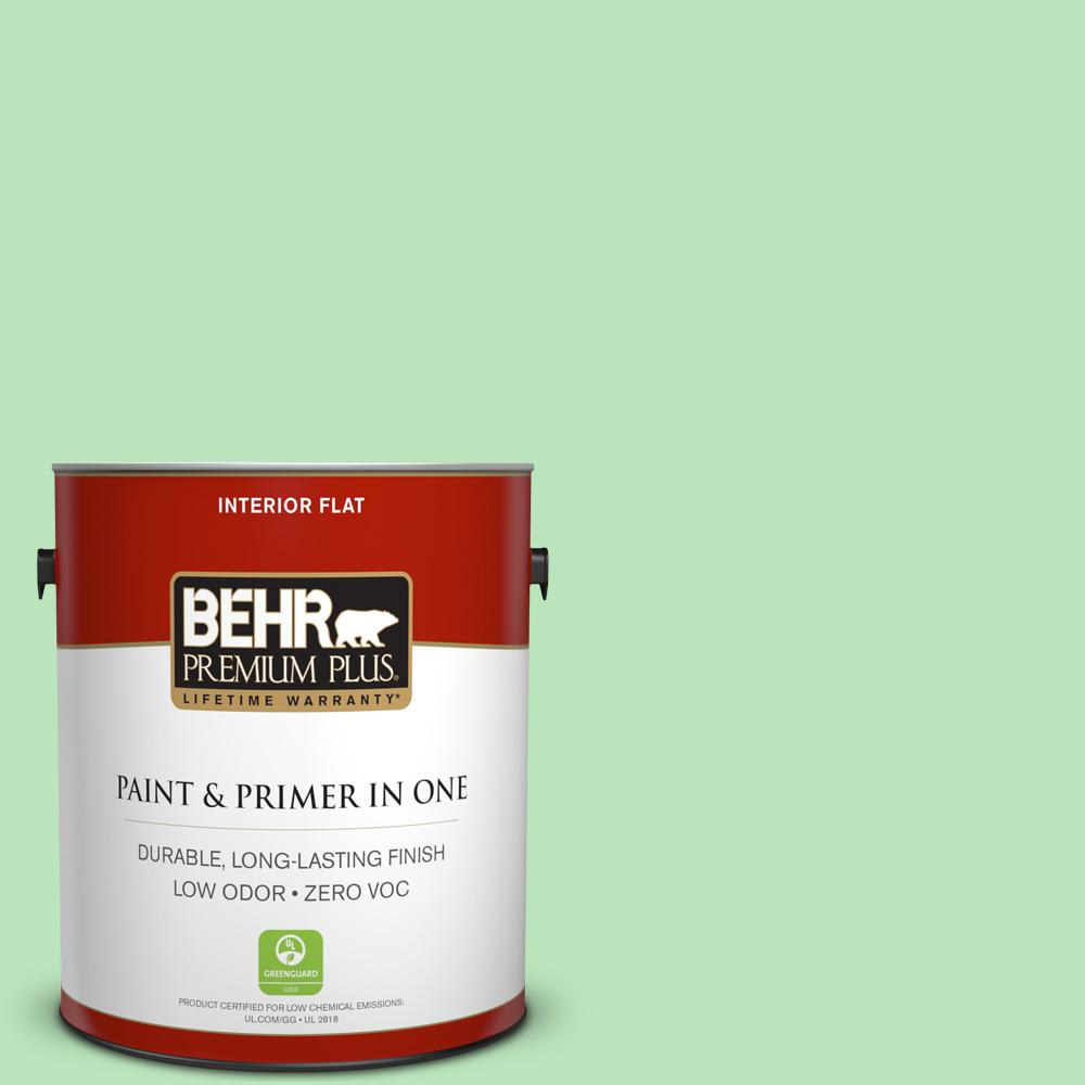BEHR Premium Plus 1-gal. #P390-3 Mint Parfait Flat Interior Paint