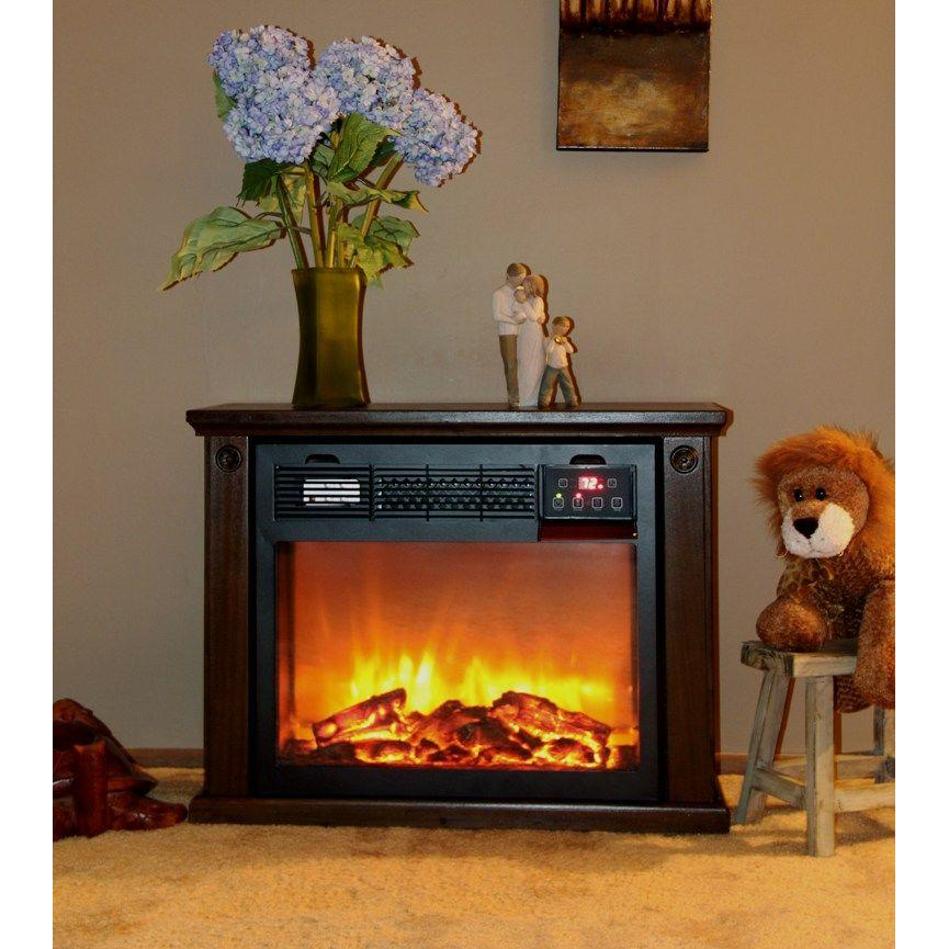 SUNHEAT 25 in. Portable Infrared Electric Fireplace with Remote in Espresso