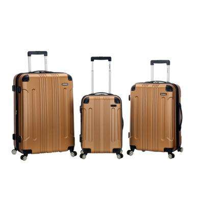 Rockland Sonic 3-Piece Hardside Spinner Luggage Set, Gold