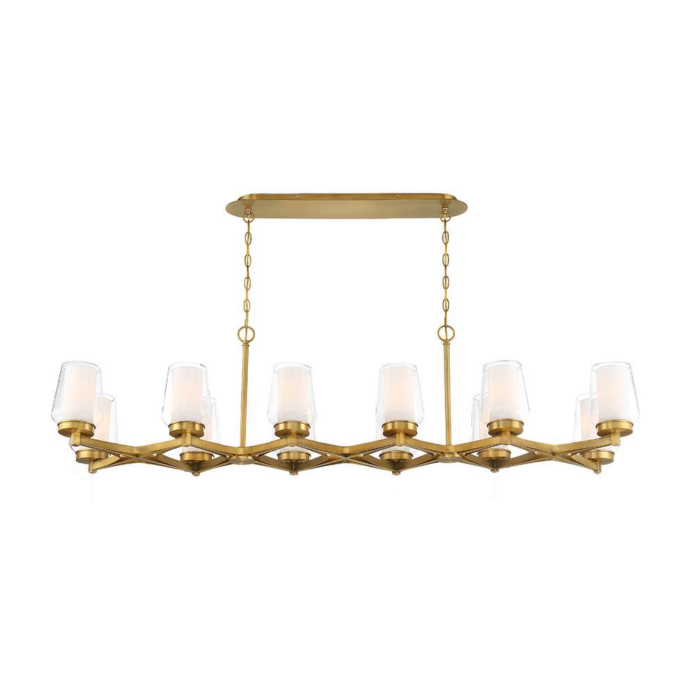 Manchester 12-Light Brass Chandelier