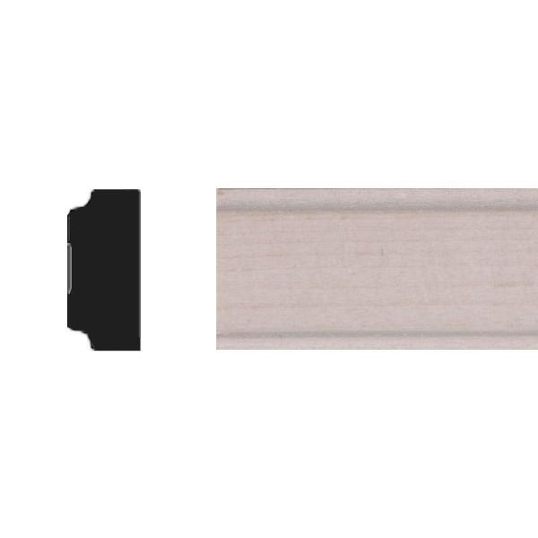 11/32 in. x 3/4 in, x 4 ft. Basswood Panel Moulding