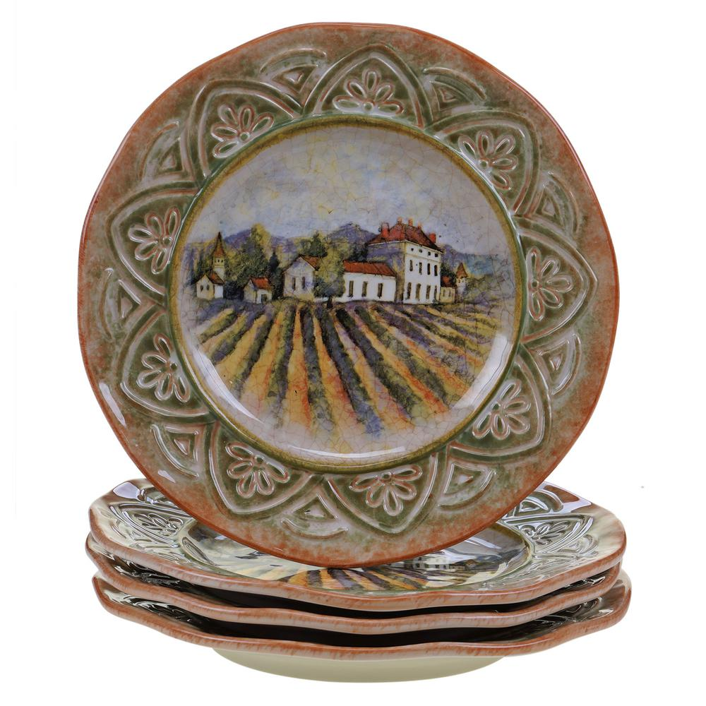 Sanctuary Wine Dinner Plate (Set of 4)  sc 1 st  Home Depot & Sanctuary Wine Dinner Plate (Set of 4)-25375SET/4 - The Home Depot