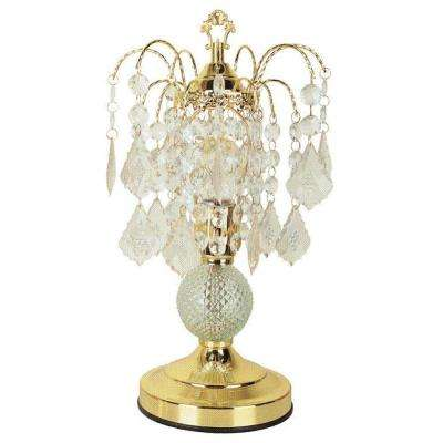 15 in. Glass Touch Gold Accent Lamp