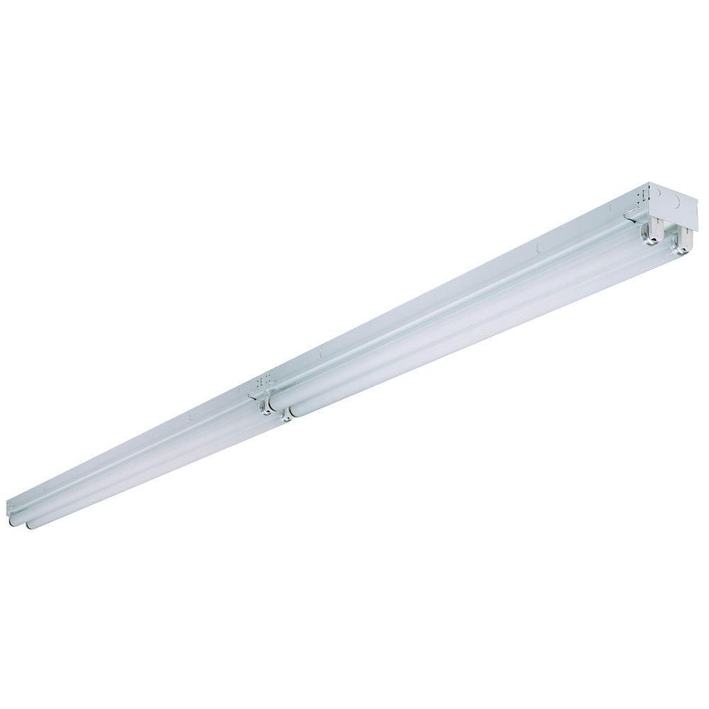 8 ft. 4-Light Tandem Surface Mount White Fluorescent Non-Hooded Strip Light