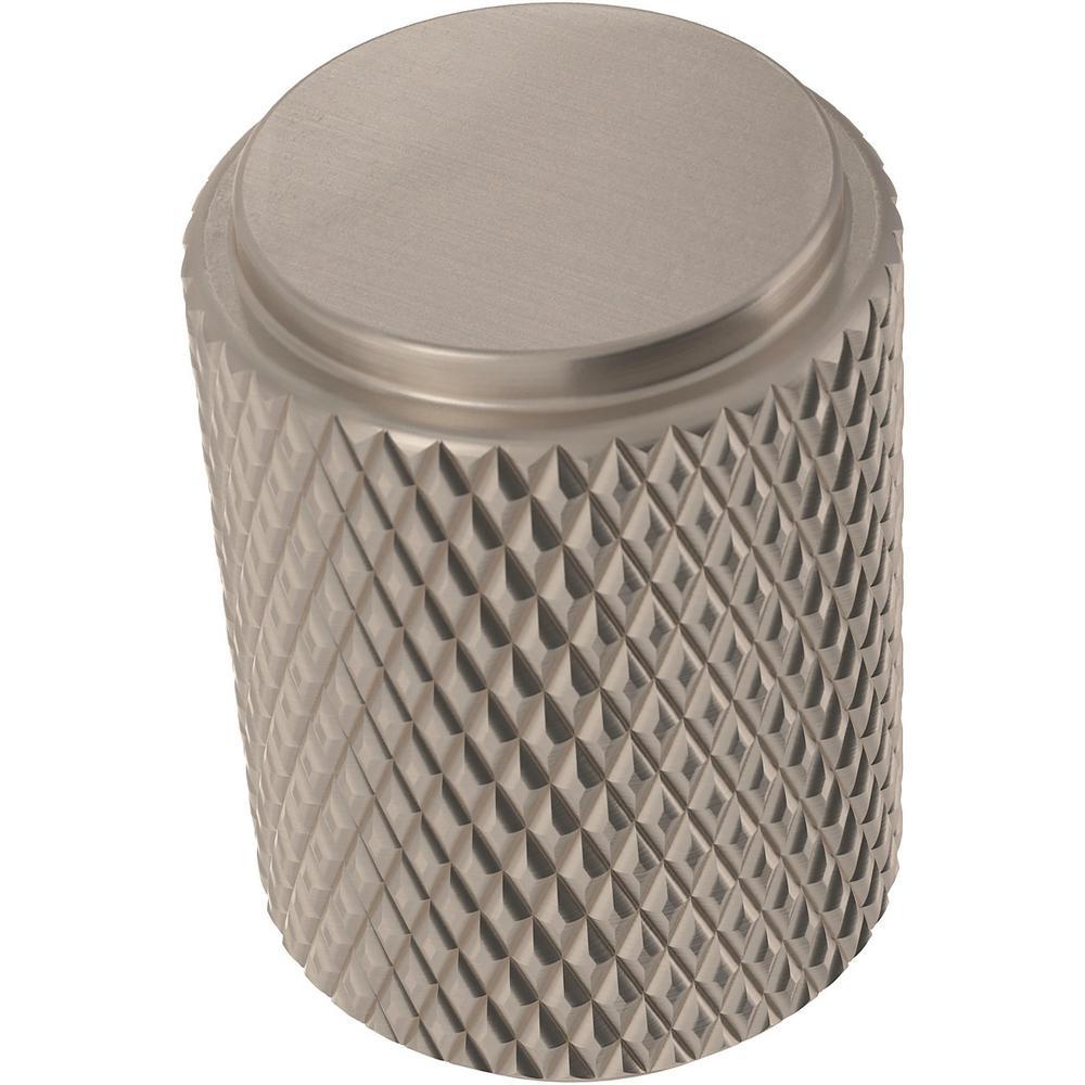 Knurled 11/16 in. (18 mm) Satin Nickel Cabinet Knob