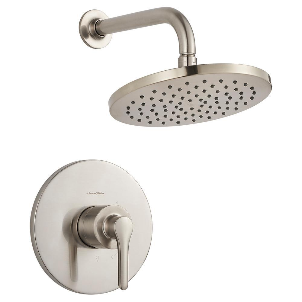 AmericanStandard American Standard Studio S 1-Handle Water Saving Shower Faucet Trim Kit for Flash Rough-in Valves in Brushed Nickel (Valve Not Included)
