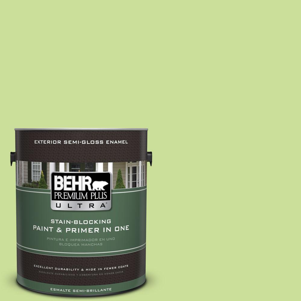 1-gal. #420A-3 Key Lime Semi-Gloss Enamel Exterior Paint