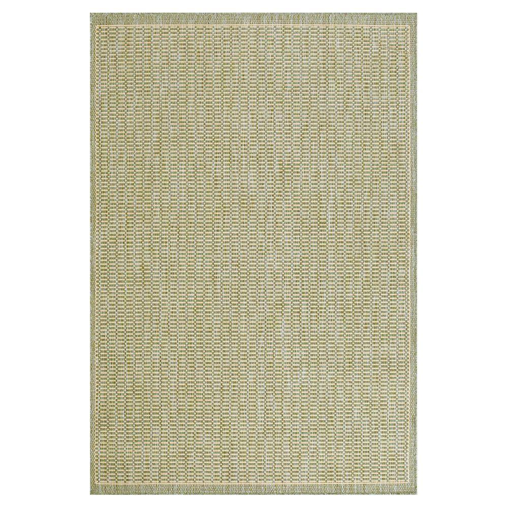 Home Decorators Collection Saddlestitch Green/Natural 5 ft. 9 in. x 9 ft. 2 in. Area Rug