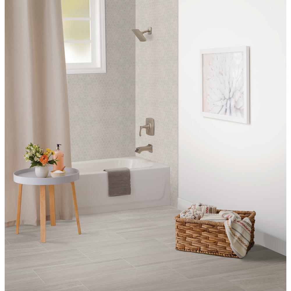 Nova Falls Gray 10 in. x 12 in. x 6.35mm Ceramic Hexagon Mosaic Floor and Wall Tile (0.81 sq. ft. / piece)
