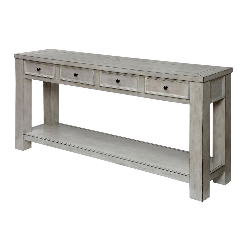 Alexis Antique White Sofa Table