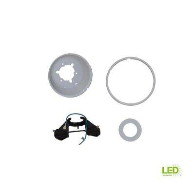 Marshlands LED 52 in. White Mounting Bracket And Canopy Set