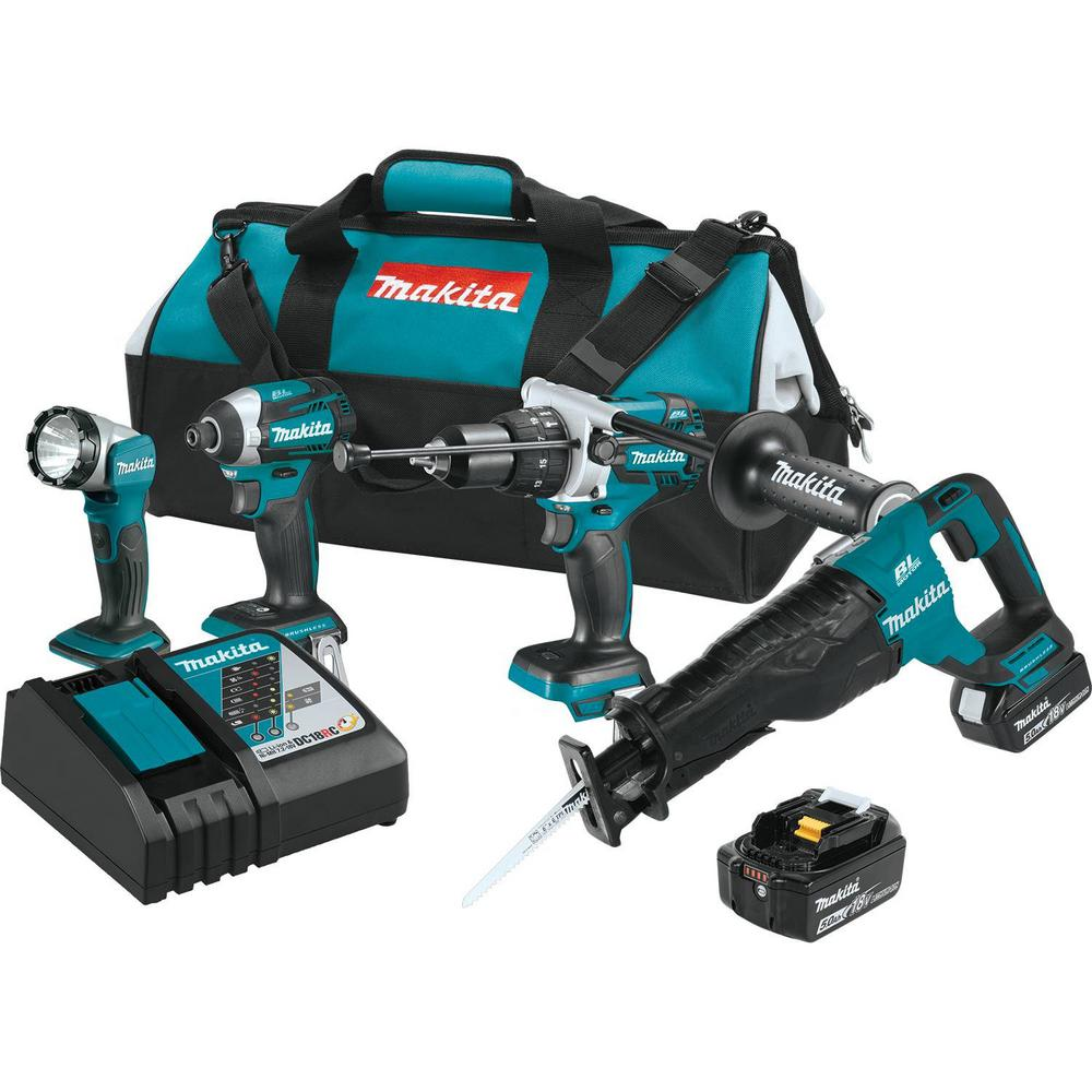 18-Volt 5.0Ah LXT Lithium-Ion Brushless Cordless Combo Kit