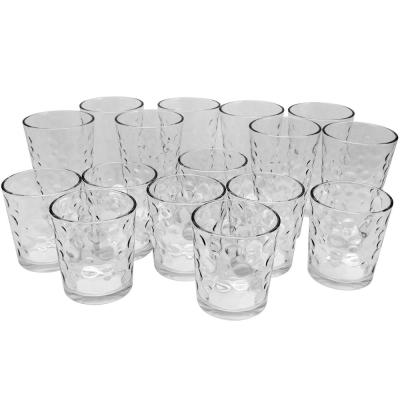 Great Foundations Tumbler and Double Old-Fashioned Glass Set in Bubble Pattern (16-Pack)