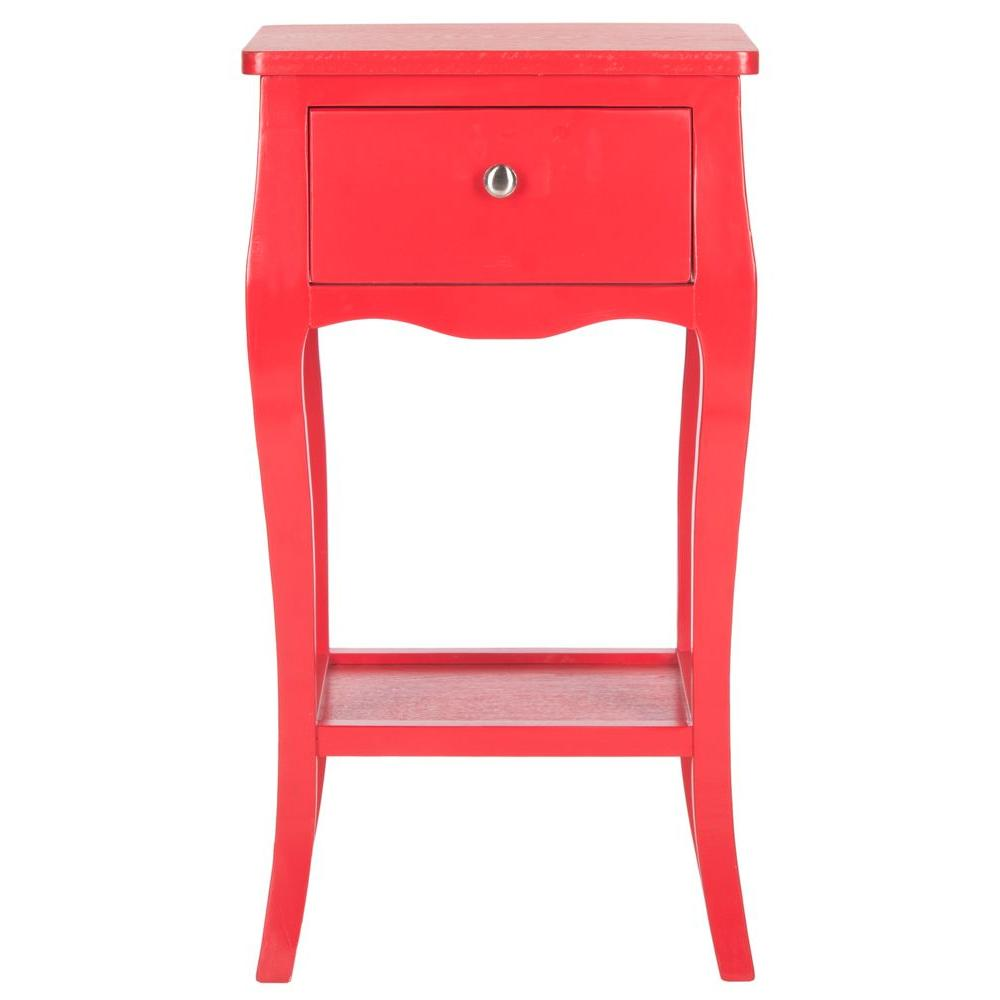 Safavieh Thelma Hot Red Storage End Table