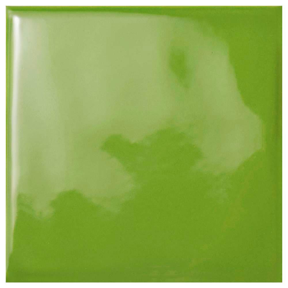 Twist Square Green Kiwi 3-3/4 in. x 3-3/4 in. Ceramic Wall Tile