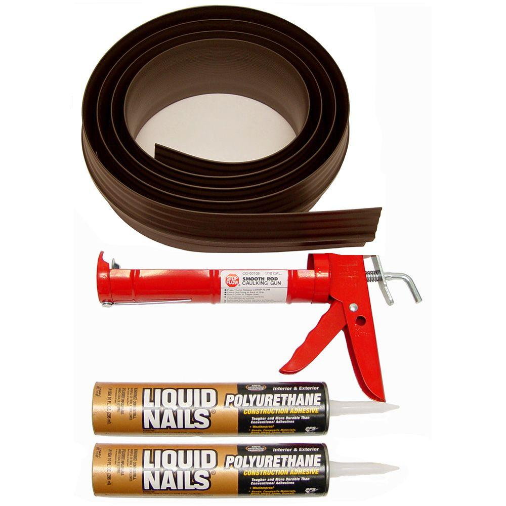 Tsunami Seal 18 ft. Brown Garage Door Threshold Kit