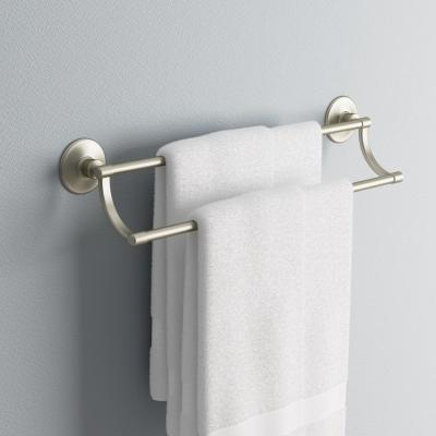 Archer 25 in. Double Towel Bar in Vibrant Brushed Nickel