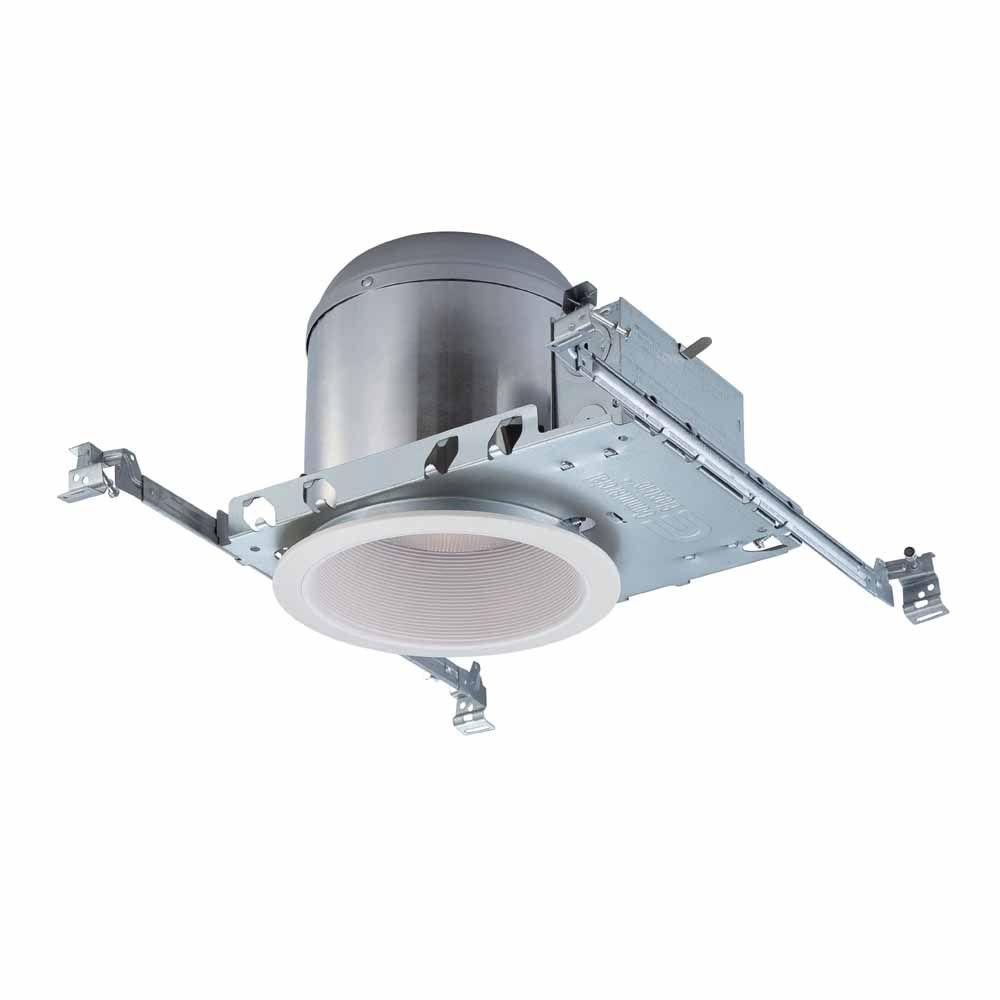 Commercial electric 6 in white recessed lighting housings and white recessed lighting housings and trims 6 pack aloadofball Image collections