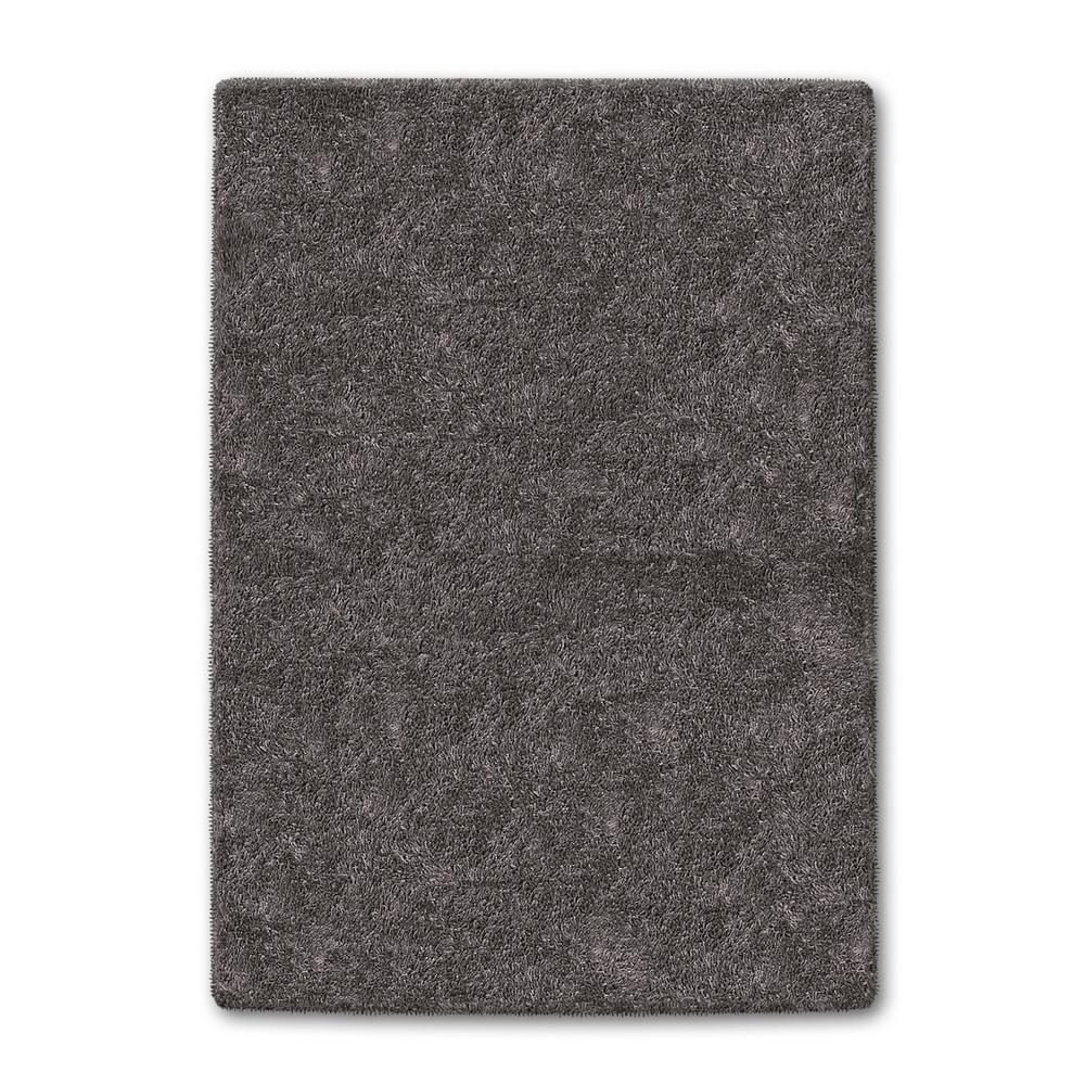 Home Legend Gray Color Shag 5 ft. x 8 ft. Area Rug