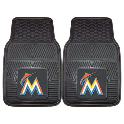 Miami Marlins 18 in. x 27 in. 2-Piece Heavy Duty Vinyl Car Mat