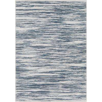 Cyra Denim 5 ft. 3 in. x 7 ft. 6 in. Abstract Area Rug