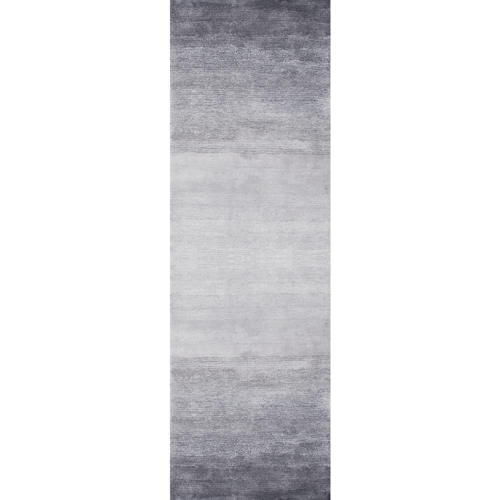 Bernatta Contemporary Ombre Gray 3 ft. x 6 ft. Runner