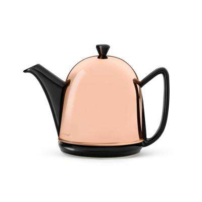 34 fl. oz. Black Cosy Manto Teapot with Copper Casing
