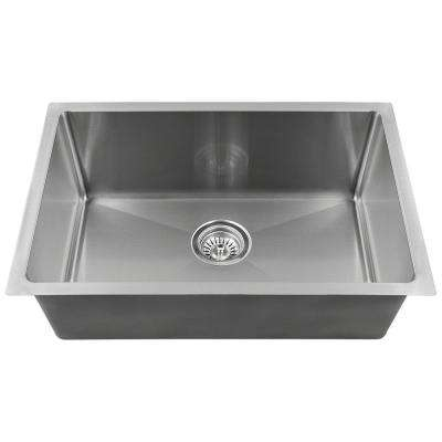 undermount stainless steel 18 in  single bowl kitchen sink     stainless steel   ada compliant   sink only   undermount kitchen      rh   homedepot com