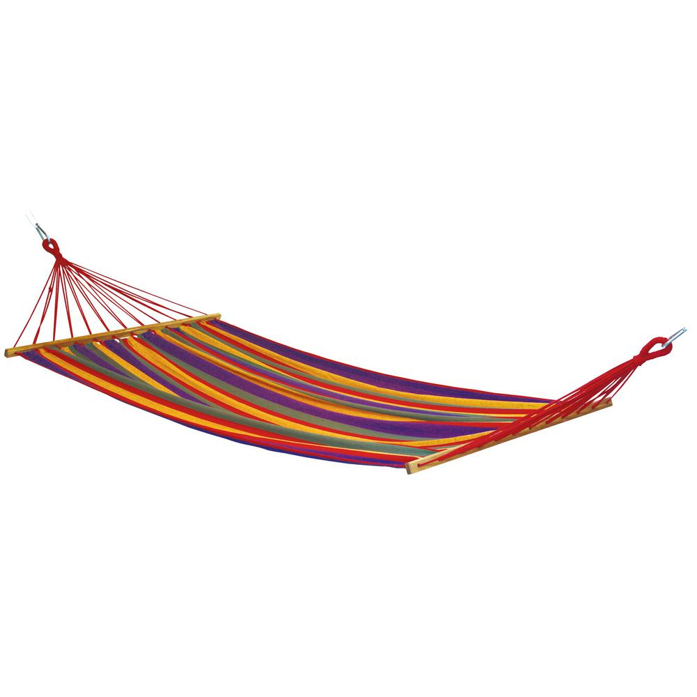 10 ft. 10 in. Poly/Cotton Blend Hammock in Multi Stripe