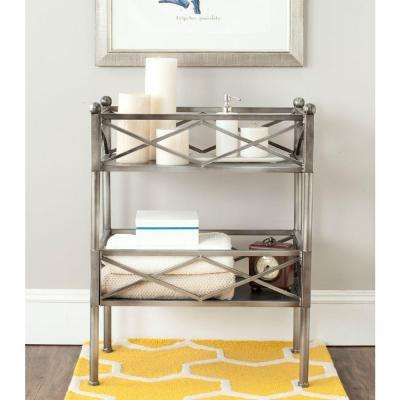 bathroom shelf over toilet. American Home Shelves Silver Storage Furniture Over the Toilet  Bathroom Cabinets The Depot